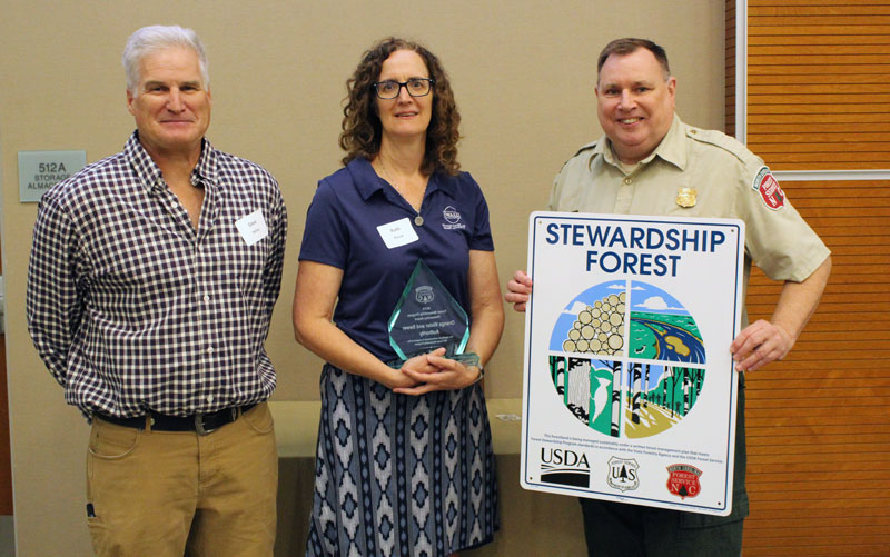 Photo of award winners at 2019 Woodland Owner Meeting