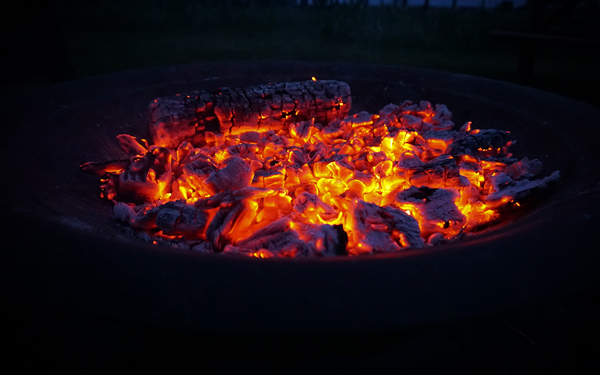 Photo of fire embers