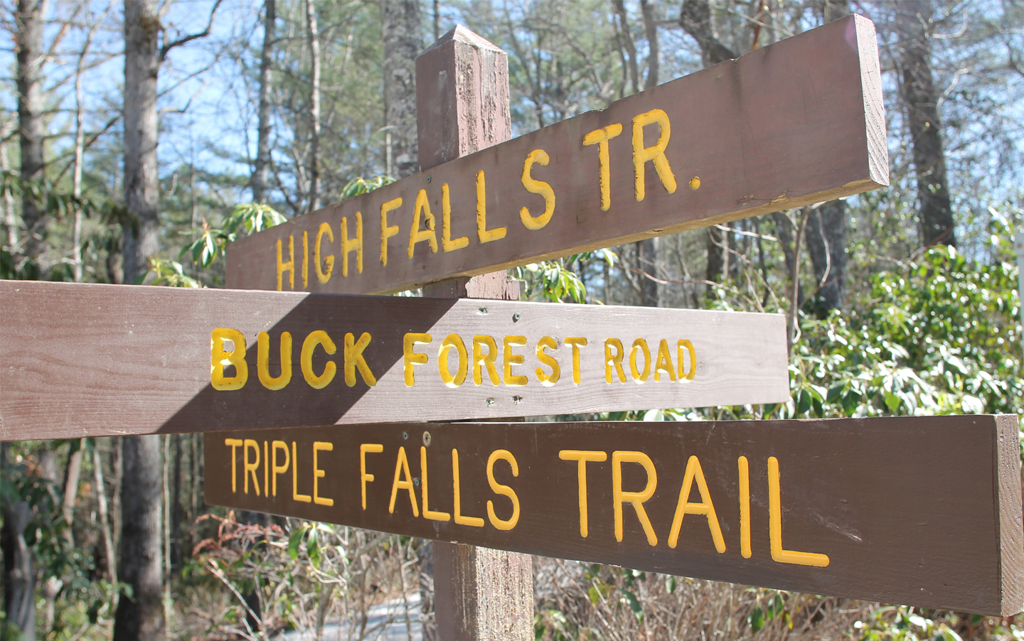 Trail signage at DSRF