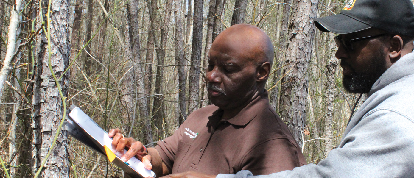 NCFS partner: Alton Perry, land management/land retention consultant assisting landowner